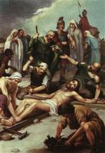 Ісуса прибивають до Хреста