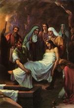 14 стація - Тіло Ісуса вкладають до гобу