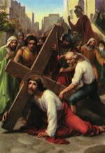 Ісус падає під тягарем Хреста