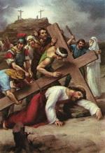 Ісус падає третій раз під тягарем Хреста